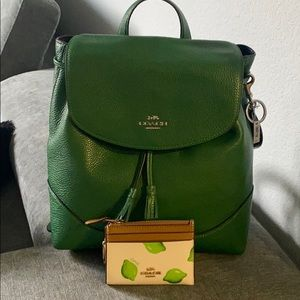 New authentic Coach backpack with key/ID wallet